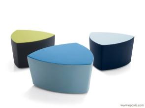 Poufs design bicolore Kensho