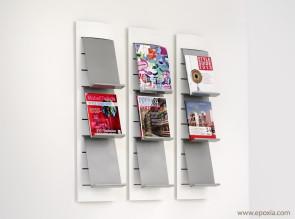 Présentoirs muraux pour brochures