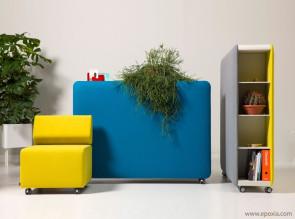 Rangement mobile et acoustique Pillow Space