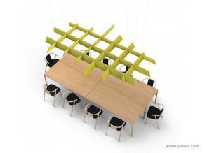 Structure suspendue acoustique BuzziGrid