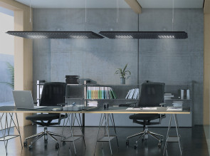 Suspension acoustique Eggboard Matrix par Artemide