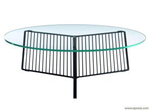 Table basse design Anapo plateau verre