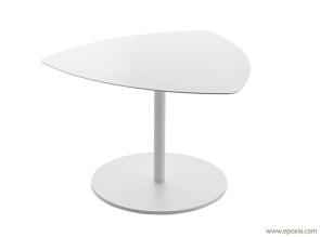Table basse en acier verni blanc Kensho