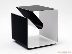 Table basse mobile line noire cube