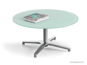 Table basse Altéis verre blanc mat