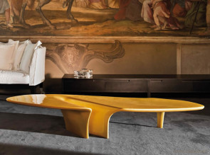 Table basse  Waterfall design  jaune