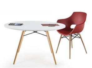 Fauteuil et table C06 bois