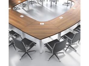 Table modulaire Frégate par Clen, finition Noyer