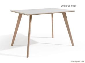 Table rectangulaire en bois Smile