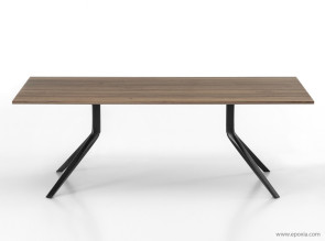 Table de réunion en bois massif noyer américain Oops