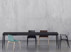 Table de réunion extensible en bois Malmo