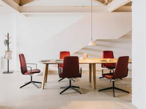 Table de réunion TLS System 6 pieds, plateau bois