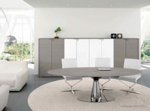 Table de réunion bois chêne gris Métar
