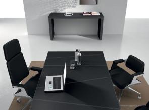 Bureau collection Titano détail plateau cuir