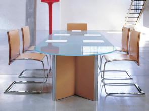 Table de réunion en verre Valeo
