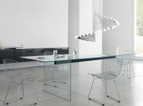 Table de réunion en verre Air Table de Gallotti Radice