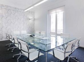 Table de réunion en verre Unitable