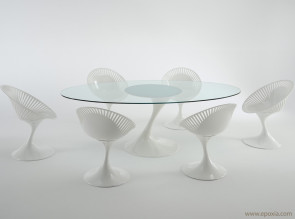 Table en verre transparent Atatlas