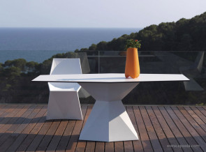 Table blanche outdoor Vertex