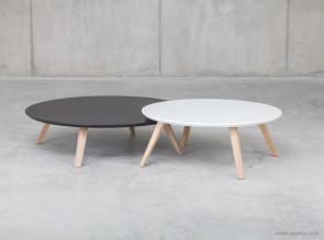 Tables basses pieds bois Oblique