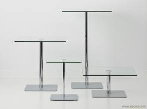 Collection de tables en verre Flow