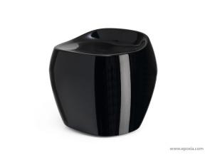Tabouret opaque noir Moma