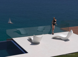 Transat collection Surf blanc par Karim Rashid pour Vondom