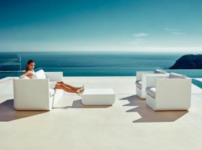 Canapé ULM avec table basse, pour terrasse