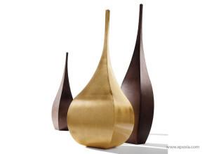 Vase déco Shimla en acier doré à la feuille d'or
